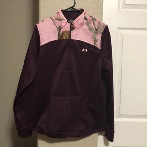 Under Armour pink camo pullover